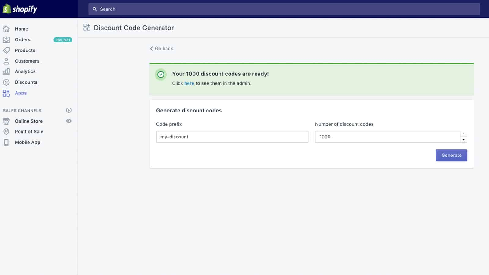 Shopify Discount Code Generator