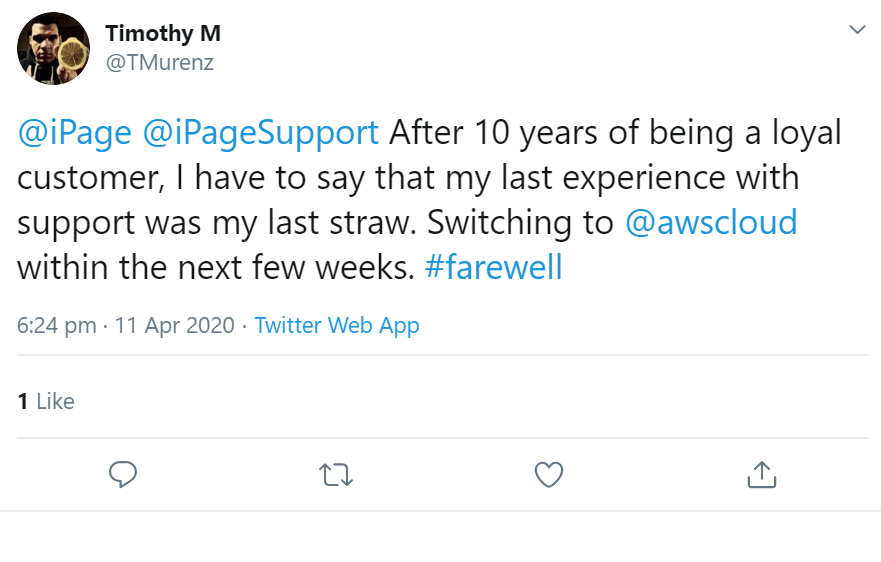 ipage review twitter