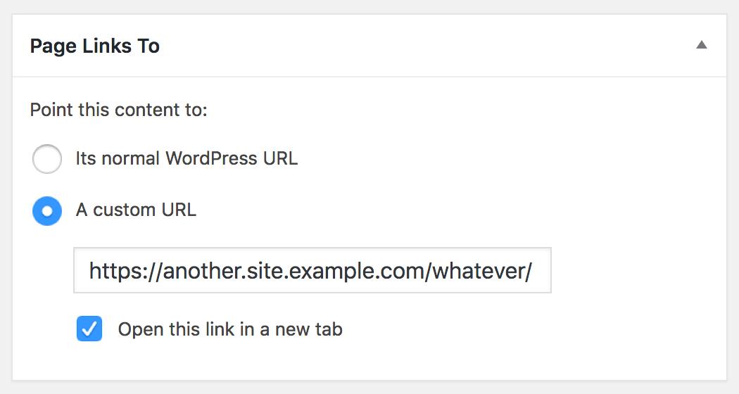 page links to wordpress plugin