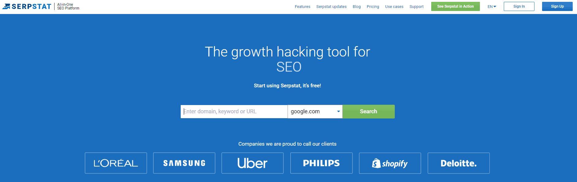 serp stat seo tool