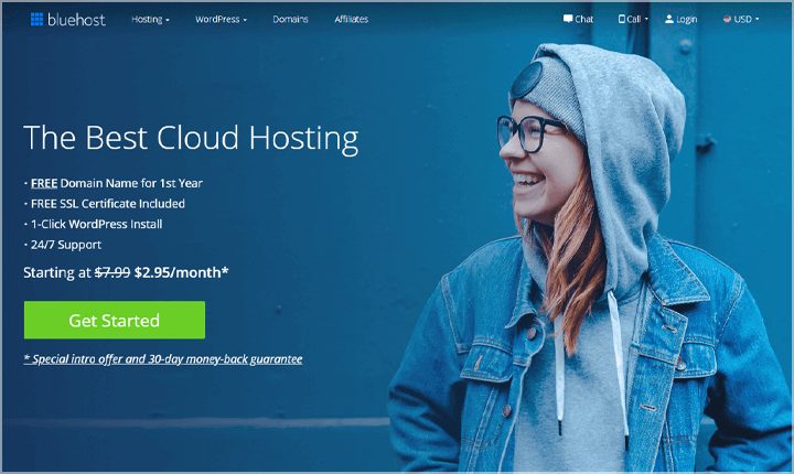 Bluehost Cloud WordPress Hosting
