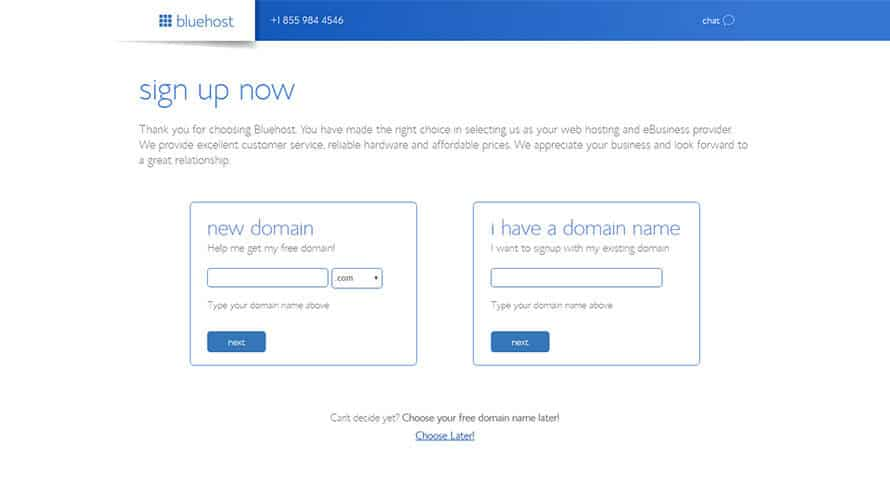Bluehost Signup Now