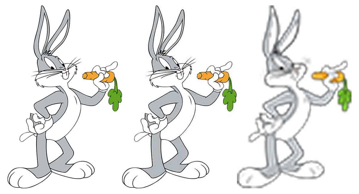 Bugs Bunny Pixelated Image