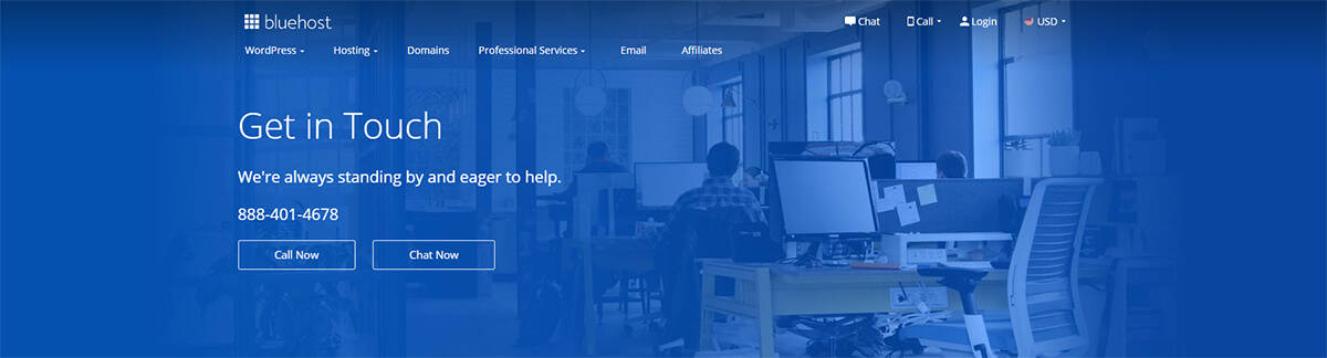 Contact Bluehost