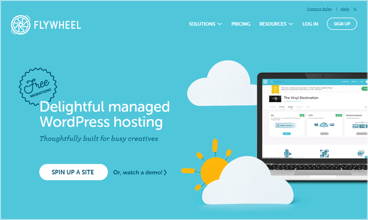 Flywheel Managed WordPress Hosting