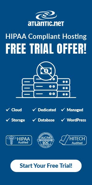 HIPAA Hosting Free Trial Banner