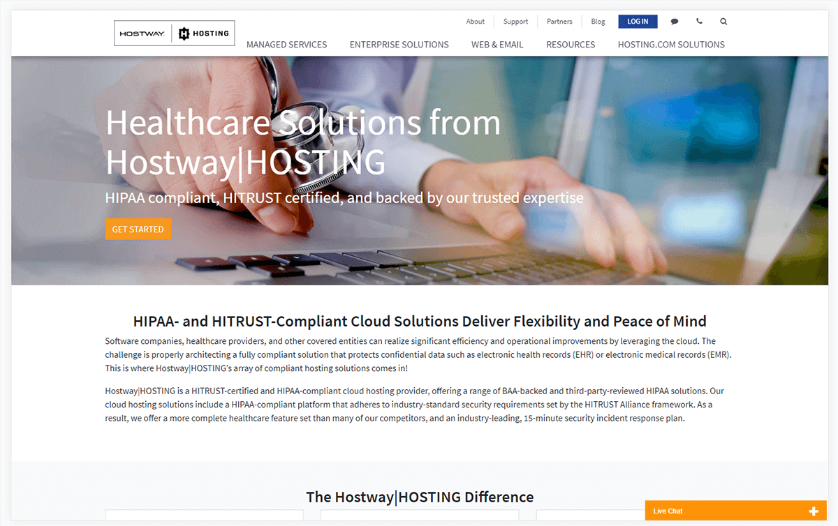 Hostway|HOSTING Healthcare Solutions