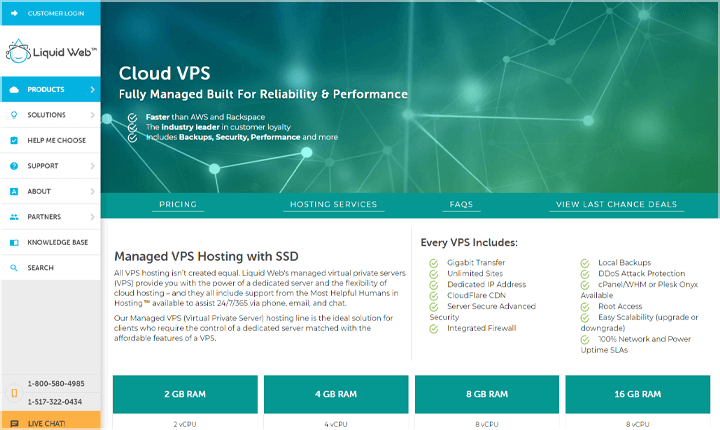 LiquidWeb VPS WordPress