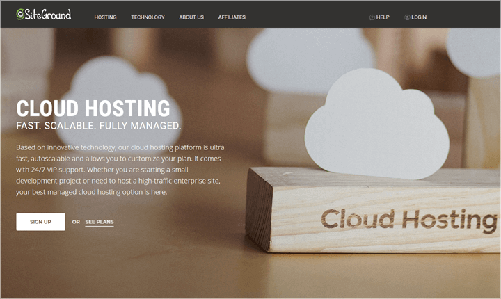SiteGround Cloud WordPress Hosting