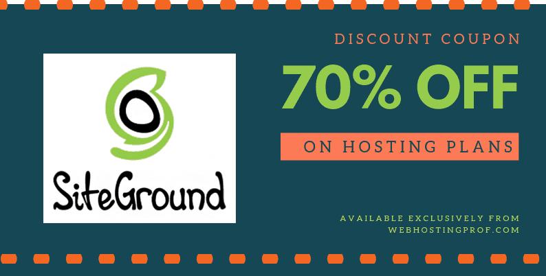 SiteGround coupon code
