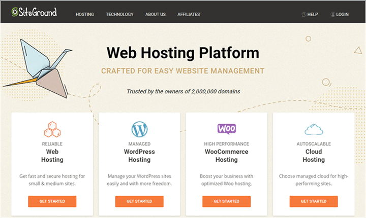 SiteGround Shared WordPress Hosting