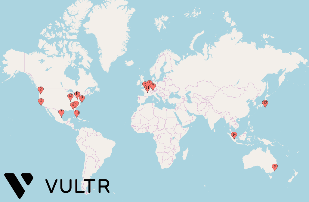 Vultr Data Center Locations