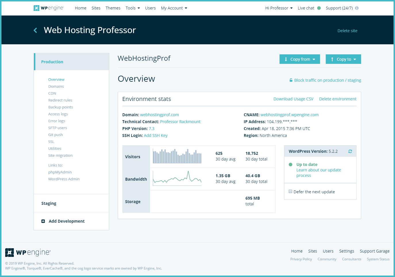 WPEngine Admin